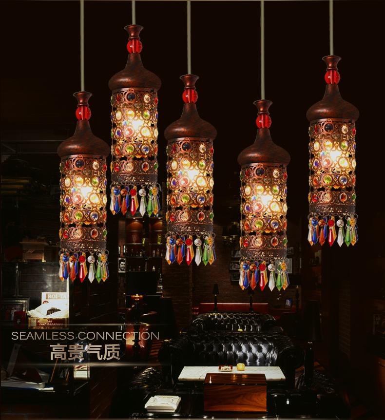 【花田美屋官网】欧式水晶灯创意单头酒吧台小吊灯