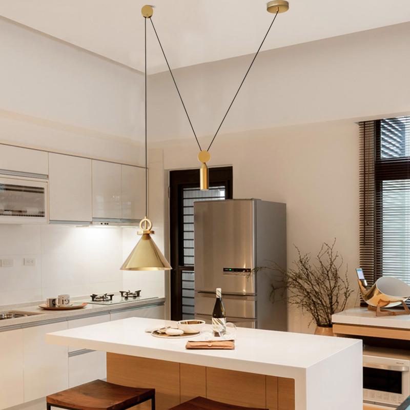 后现代个性创意设计师简约大气客厅卧室餐厅时尚个性喇叭吊灯