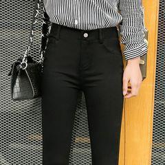 魔术黑色打底裤女裤外穿春秋冬铅笔小脚黑裤2020新款高腰显瘦百搭