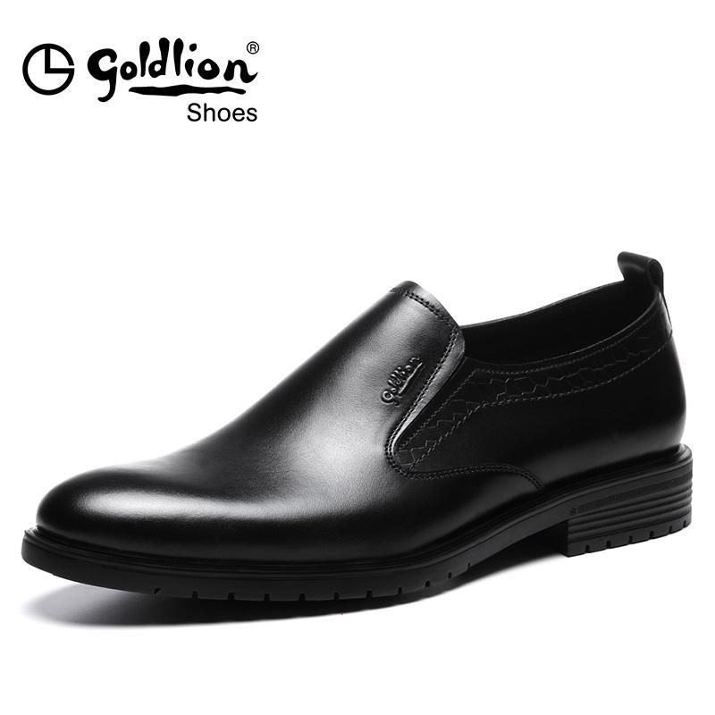 金利来新品商务正装皮鞋男男士真皮一脚蹬套脚软底男鞋婚鞋潮男