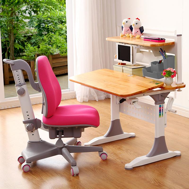 实木儿童学习桌儿童书桌升降小学生写字桌小孩课桌椅家用组合套装