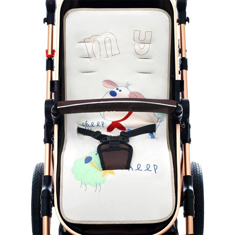 婴儿手推车配件通用彩虹棉垫宝宝伞推车棉垫儿童学步车餐椅冬坐垫