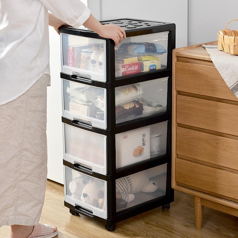 收纳箱塑料衣服置物柜透明整理箱办公室储物抽屉式多层收纳柜