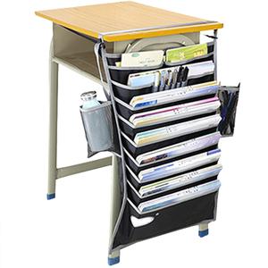 学生书袋课桌收纳书本挂袋书桌挂书袋高中生教室课桌大容量创意桌边书挂袋多功能桌边书立夹置物袋初中生书带