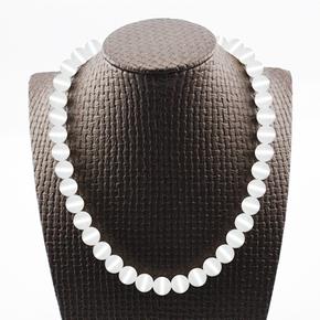 水晶猫眼石项链女饰品吊坠日韩珍珠