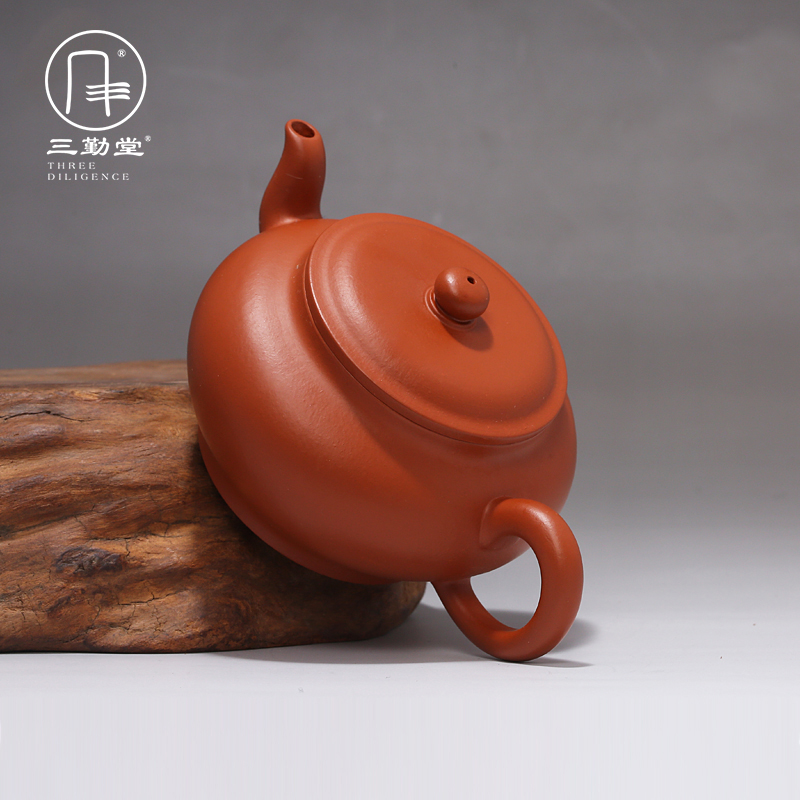 Yixing masters all hand three frequently hall are it to kung fu tea kettle undressed ore zhu mud flat pot quality goods