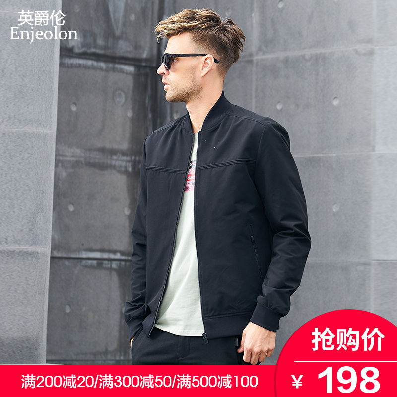 Baseball collar jacket coat spring 2019 new trend men's pilots spring and autumn Korean handsome baseball clothing