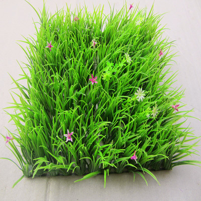 Plastic lawn with flower interior simulation background green plant wall hanging high encryption balcony decoration artificial fake turf