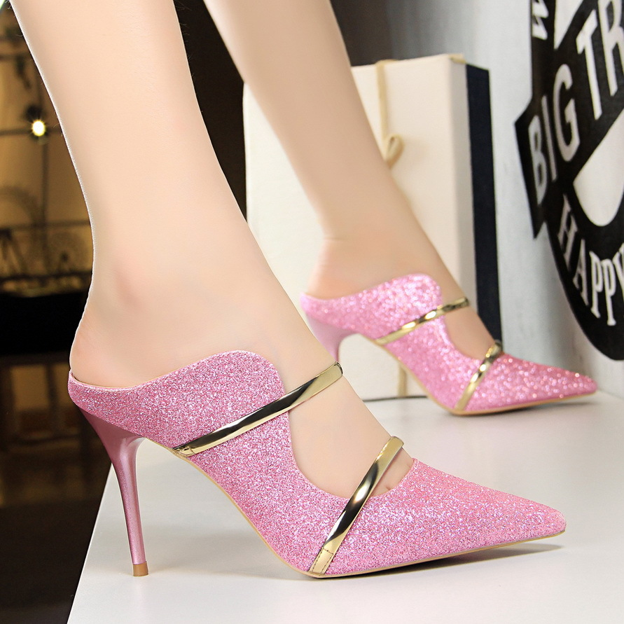 2018 spring autumn Thin Heels pointed high heels