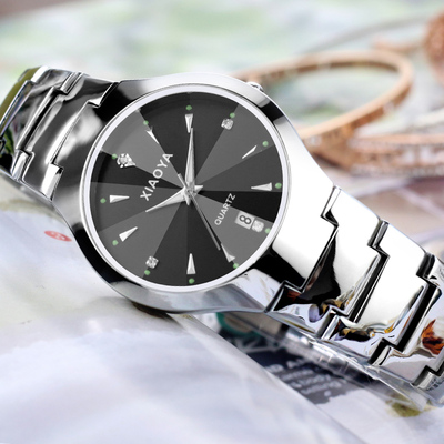 Genuine fashion Korea trendy watch male students Korean version of the simple female table luminous ultra-thin quartz watch couple watches