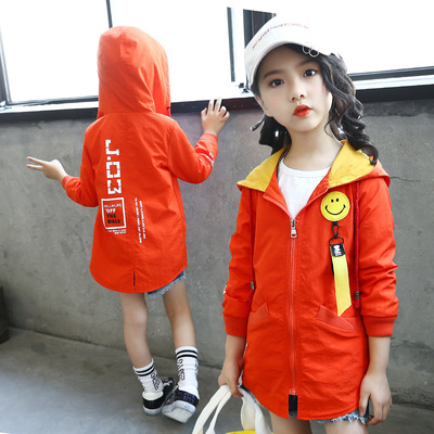 Girls windbreaker coat 5 autumn children's clothing 8 autumn 9 big ladies 10 girls 6 clothes 4-12 years old 13