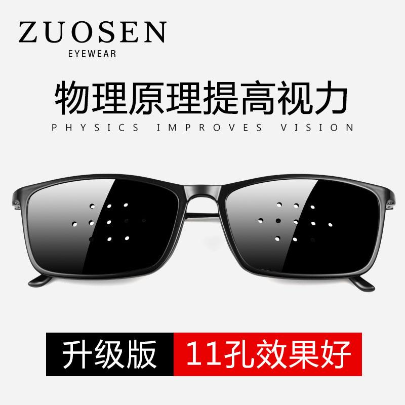 佐森小孔眼镜防近视散光儿童成人护目镜多孔眼镜保护眼睛针孔眼镜