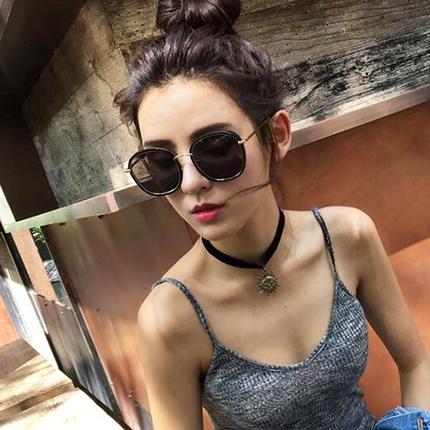 2017新款韩国墨镜太阳镜女圆脸个性潮明星款gm网红同款太阳眼镜