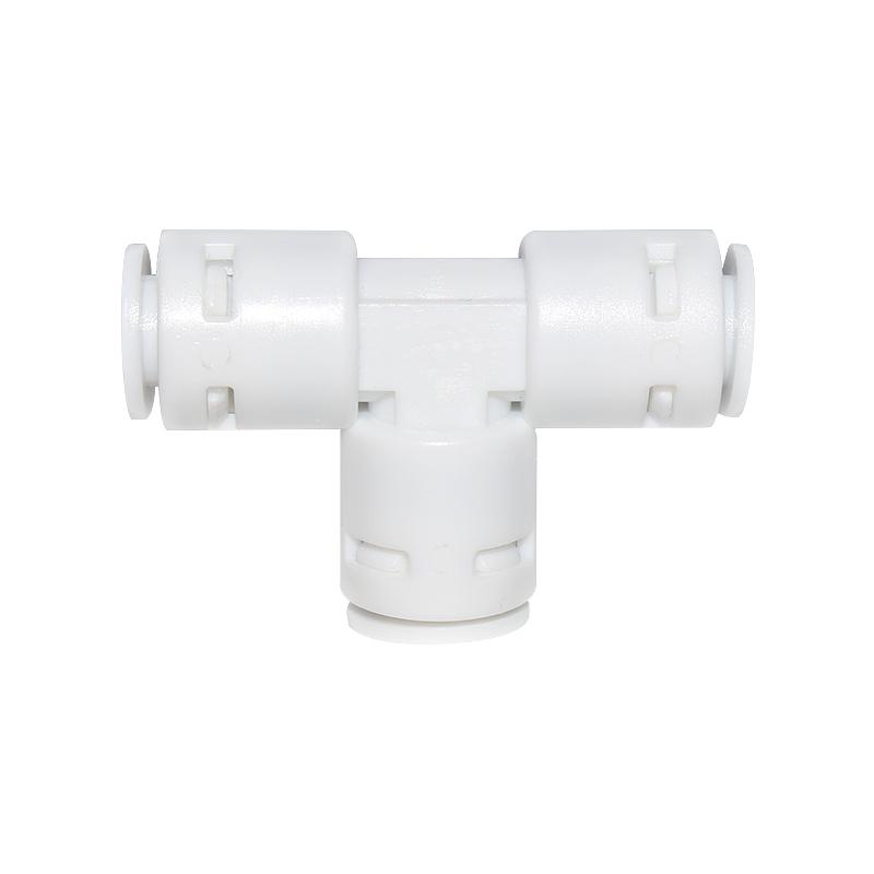 万泉达净水器配件2分快接三通接头纯水机PE水管配件 三通快速接头