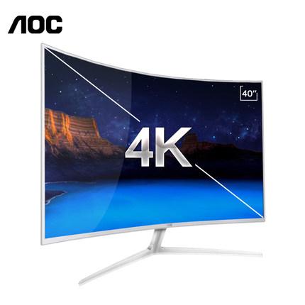 高性能显示器:AOC 40寸曲面显示器4K C4008VU8超高清电竞曲屏评测