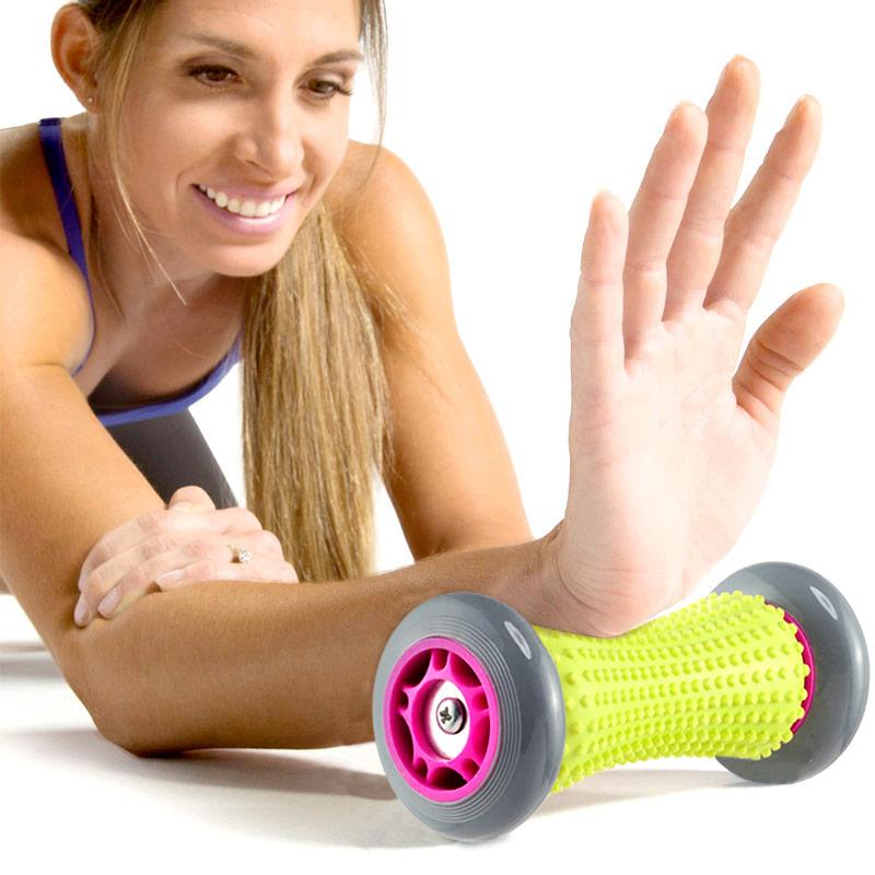 手部足底按摩滚筒按摩轮家用办公室健身器材脚底放松肌肉按摩棒