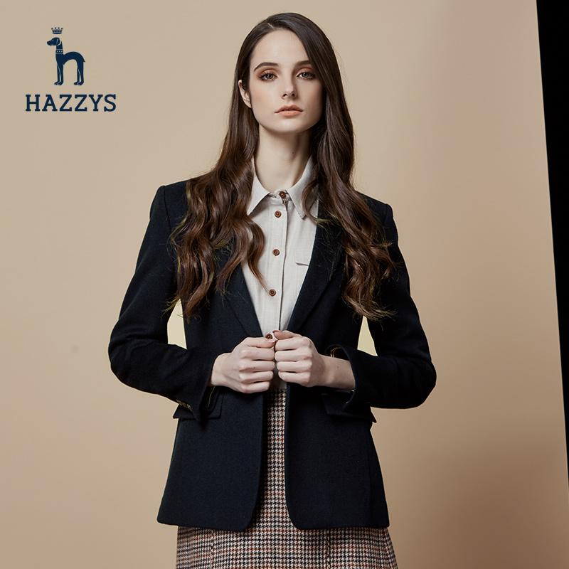 Hazzys女士单西便西哈吉斯秋冬新款潮流西服时尚英伦休闲长袖外套