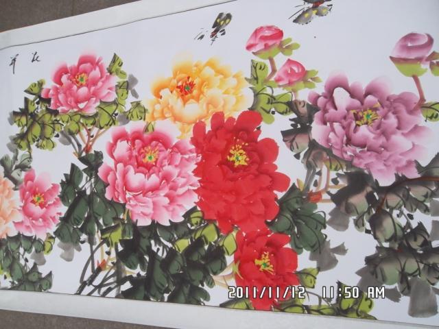 Картина Пион цветы богатые господа цветы богатства и удачи четыре ноги подставили Китайская живопись каллиграфии и живописи, каллиграфии, рисования цветы и птицы
