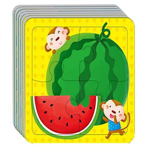 婴幼儿拼图2-3岁动手动脑玩拼图全12张儿童趣味拼图玩具宝宝全脑开发书籍幼儿园小班专注力益智思维训练游戏手工书邦臣小红花