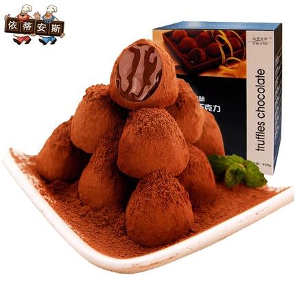 依蒂安斯巧克力礼盒装8口味400g可可脂黑松露形年货零食大礼包