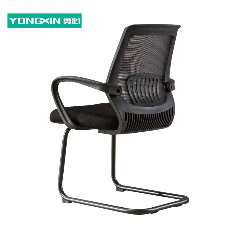勇心简易办公椅电脑椅家用透气网布职员椅子靠背会议椅弓形脚椅