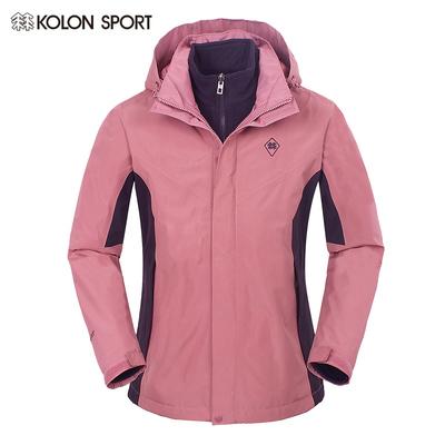 KOLONSPORT可隆 冬季女户外三合一抓绒保暖防风冲锋衣LKGW61221