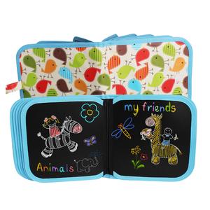 儿童画板涂鸦写字白板便携双面磁性小黑板可擦水粉笔涂绘画本家用