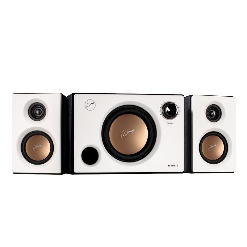 Hivi-惠威 M10多媒体家用台式机音箱有源木质2.1低音炮音响送蓝牙