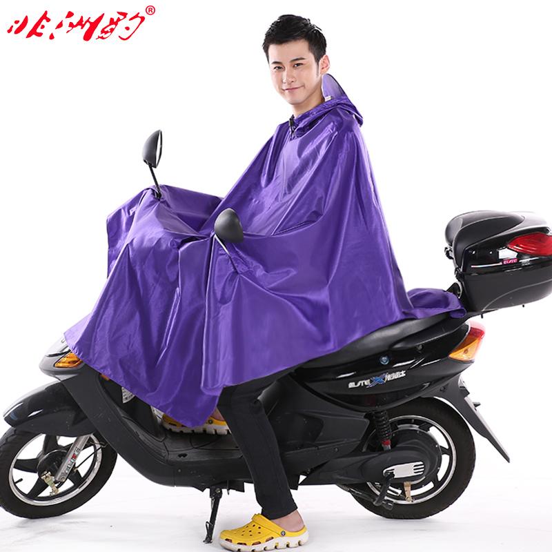 非洲豹摩托车电动车雨衣时尚加大厚成人大帽檐