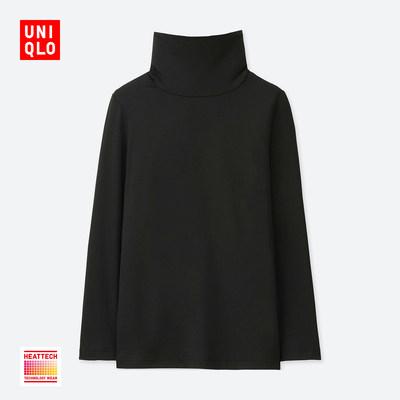 童装/男童/女童 HEATTECH 两翻领T恤(长袖) 400112 优衣库UNIQLO