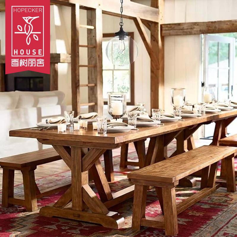 365体育投注 平板_365体育投注必须当天提现吗_365体育投注直营大餐桌椅组合 美式乡村复古原木长方形长桌做旧漫咖啡厅木桌