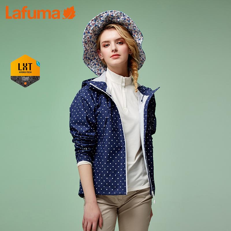 法国LAFUMA乐飞叶户外女士防泼水连帽波点潮流冲锋衣LFJA7AC01