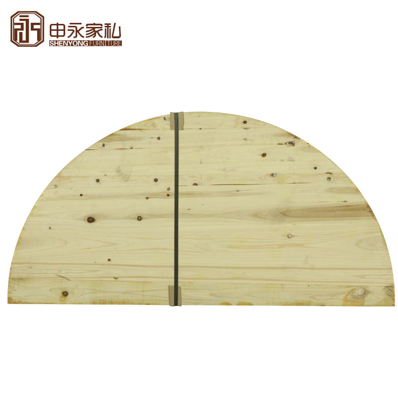 Shen Yong Round Countertop Round Dining Table Panel Round Dining Table Countertop Wood Table Flour Solid Wood Folding Round Tabletop