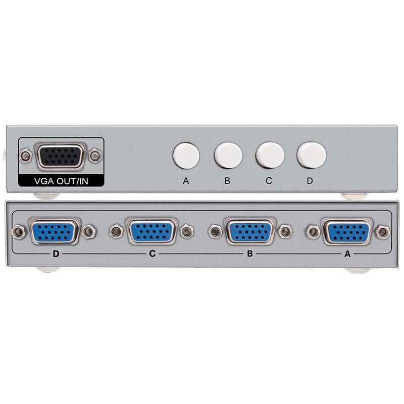 帝特vga切换器2进1出电脑多主机共享器显示器视频转换器显示屏分配器两口监控信号屏幕二进四进一出vga4进1出