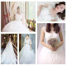 Wedding dress In accordance with Hong