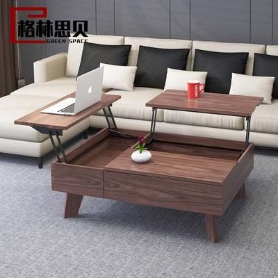 客厅北欧多功能可升降茶几餐桌两用现代简约折叠伸缩创意小户型