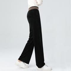 雪尼尔直筒条绒阔腿裤女士春秋季宽松高腰垂感2020新款灯芯绒裤子价格比较