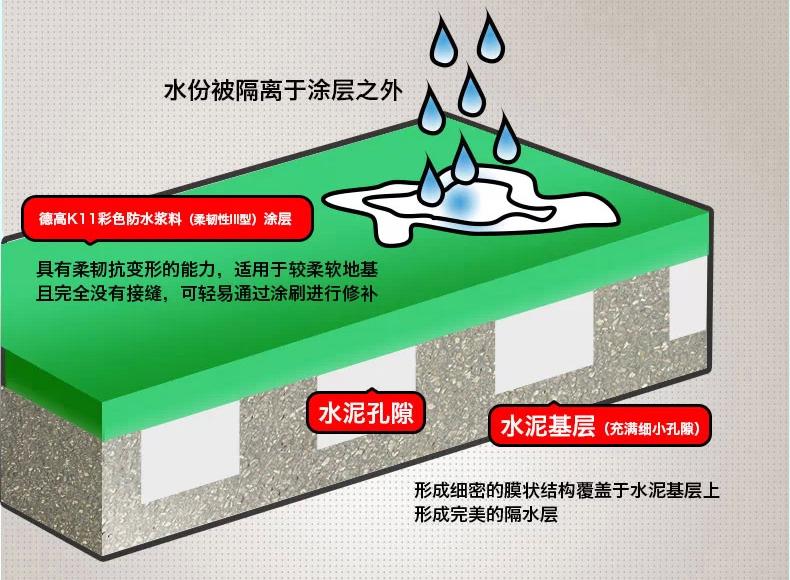 德高防水k11通用型 卫生间墙面防水涂料图片