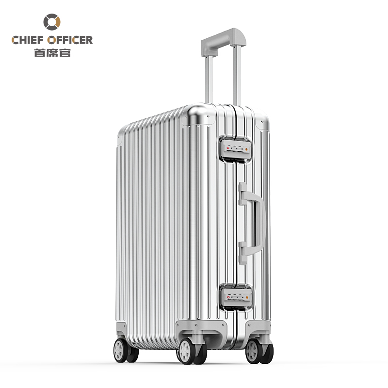 首席官铝镁合金拉杆箱女全铝旅行箱铝合金行李箱男万向轮登机箱子