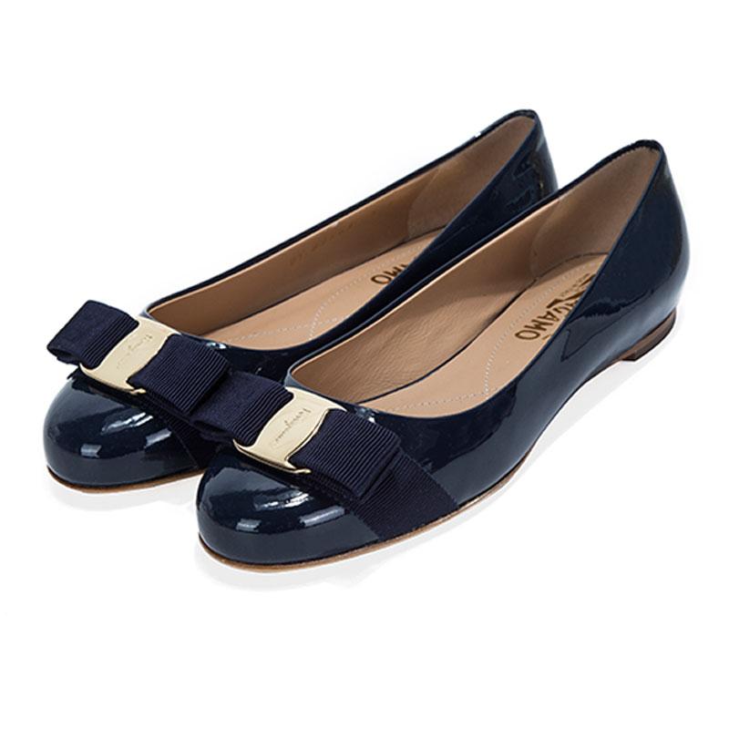 FERRAGAMO-菲拉格慕女鞋VARINA 1CM经典蝴蝶结女单鞋C楦01A181