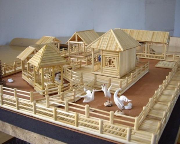 圆木棒木棍diy手工房子沙盘模型制作材料木条棒雪糕棒冰棍棒包邮_7折