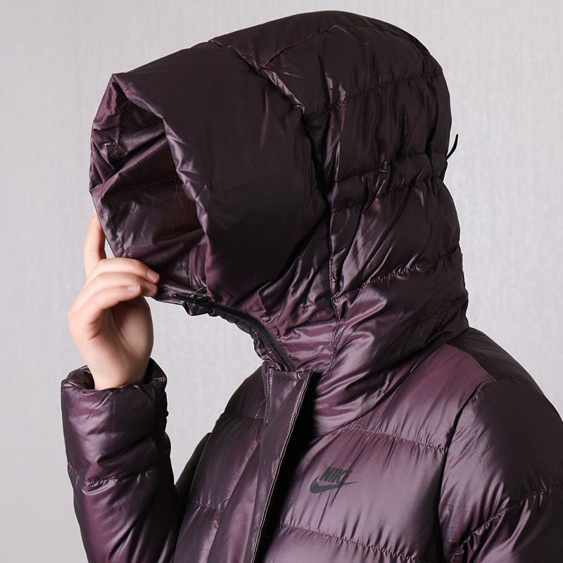 QC Nike耐克女装冬季新款运动休闲防风保暖连帽羽绒服815724-010