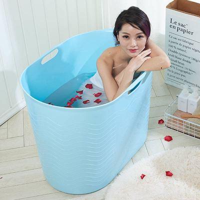 家用成人塑料浴桶加大号加厚洗澡桶软胶可坐沐浴桶儿童浴盆洗澡盆