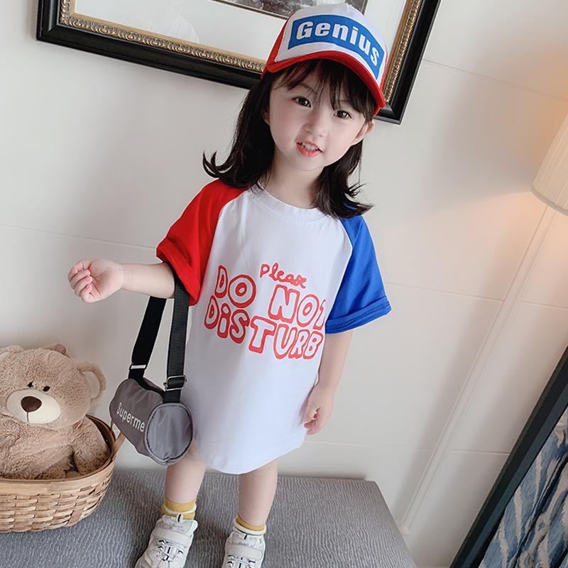 儿童短袖t恤女童洋气上衣夏装2019新款小童体恤纯棉夏季女宝宝潮