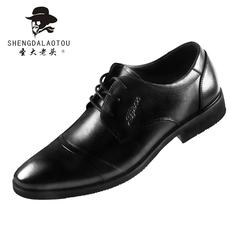 圣大老头2019新款男士皮鞋商务正装上班工作鞋拼接英伦爸爸皮鞋潮