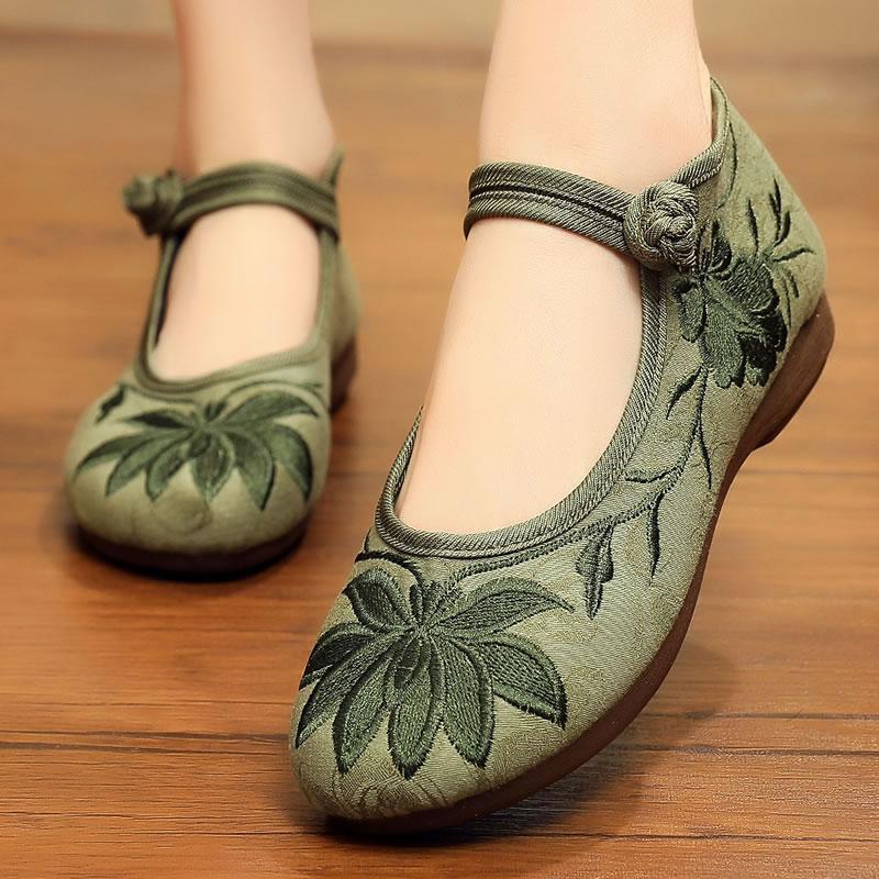 老北京布鞋旗舰店官方奶奶鞋女夏中国风正品软底女式中老年绣花鞋