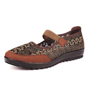 老年人凉鞋老人鞋子女60-70-80岁平底奶奶夏季中年女士妈妈软底鞋