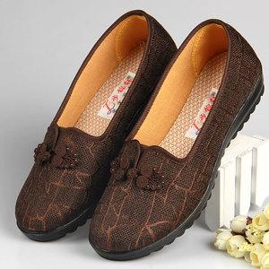 北京老布鞋女新款妈妈鞋舒适老年人软底布鞋秋季老太太鞋子奶奶鞋