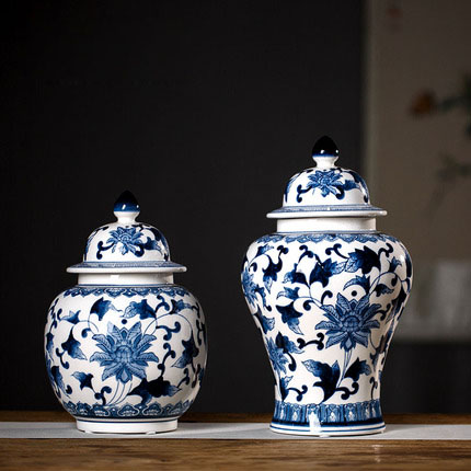 Ceramics sitting room place, a new Chinese blue and white porcelain vase household act the role ofing is tasted decorate ceramic vase