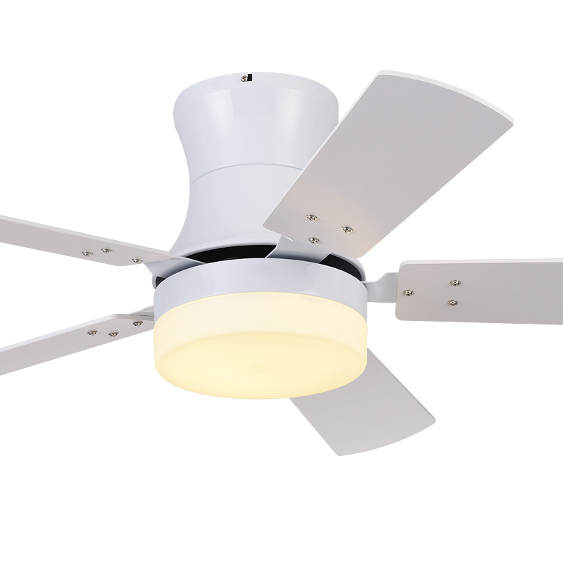 森林风超薄吸顶式吊扇灯 现代简约风扇吊灯 餐厅客厅白色电风扇